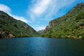 Douro valley the river duero one of the major rivers of the iberian peninsula serving as the natural border between spain and Stock Photography