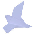 Dove folded paper. Stock Image