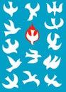 Dove-Holy spirit Royalty Free Stock Photo