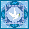 Dove symbolic illustration for the first communion o confirmation Stock Images