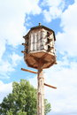 Dovecote historical wooden for pigeons Stock Photos