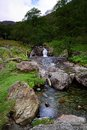 Dovedale beck small water falls of Stock Photography