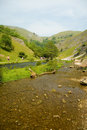 Dovedale river and valley Royalty Free Stock Photo