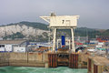 Dover harbour ferry berth in england Royalty Free Stock Photo