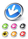 Down arrow icon Royalty Free Stock Photo