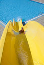 Down on slide Royalty Free Stock Photo