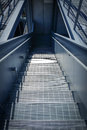 Down the staircase nyc usa Stock Photo