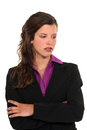 Downcast businesswoman Royalty Free Stock Photo
