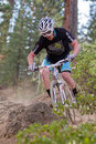 Downhill Cyclocross Bike Race Royalty Free Stock Photo