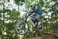 Downhill Mountain Bike Race Royalty Free Stock Image