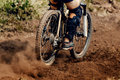 Downhill mountain biking Royalty Free Stock Photo