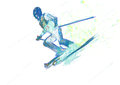 Downhill skier Royalty Free Stock Image