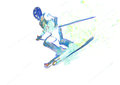 Downhill skier Stock Photo
