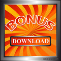 Download bonus icon Royalty Free Stock Image