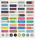 Download button retro set of different buttons for web sites Stock Photos