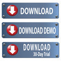 Download Button Set Royalty Free Stock Image