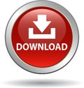 Download button web icon red Royalty Free Stock Photo
