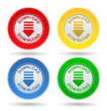 Download Buttons Royalty Free Stock Photo