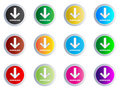 Download buttons Royalty Free Stock Image