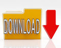 Download file shows downloaded software or data Stock Photos