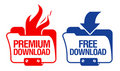 Download Folder Icons. Royalty Free Stock Photography