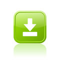 Download green button Royalty Free Stock Photo