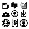 Download icon button Royalty Free Stock Photo