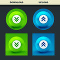Download icon usable for web design Royalty Free Stock Images