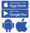 Icons app store google play iphone android