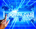 Download Map Displays Downloads Downloading and Information Tran Royalty Free Stock Photo