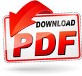 Download pdf design icon Royalty Free Stock Photo