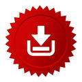 Download red vector sticker Royalty Free Stock Photo