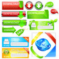 Download sales icon set Royalty Free Stock Photo