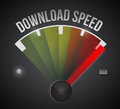 Download speed level measure meter from low to high concept illustration design Royalty Free Stock Image