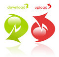 Download and upload icons Royalty Free Stock Images