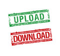 Download upload stamps Royalty Free Stock Images
