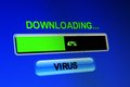 Download virus close up of Royalty Free Stock Images