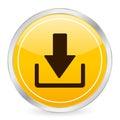Download yellow circle icon Royalty Free Stock Photo