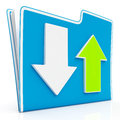 Downloading and uploading data icon download upload shows transferring file Royalty Free Stock Photo