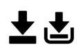 Downloads icon Royalty Free Stock Photo