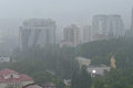 Downpour in the russian sochi on june th led to floodi serious flooding Royalty Free Stock Images