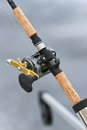 A Downrigger Fishing Rod and Reel Royalty Free Stock Image
