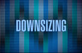 Downsizing text on a binary background illustration design Stock Photos