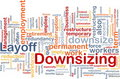 Downsizing word cloud Royalty Free Stock Photos