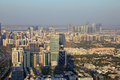 Downtown abu dhabi aerial view of the united arab emirates Royalty Free Stock Photos