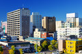 Downtown aomori japan buildings in city Stock Photo