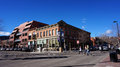 Downtown areas of boulder colorado january visitors visit the colorado area including the pearl street Royalty Free Stock Photo