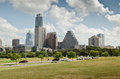 Downtown austin texas skyline the of the capital city of Royalty Free Stock Photo