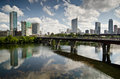 Downtown austin texas skyline the of the capital city of Royalty Free Stock Photography