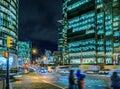 Downtown at big megapolis at night Royalty Free Stock Photo